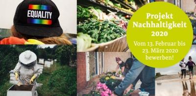 Projekt Nachhaltigkeit bewerben bis zum 23.03.2020